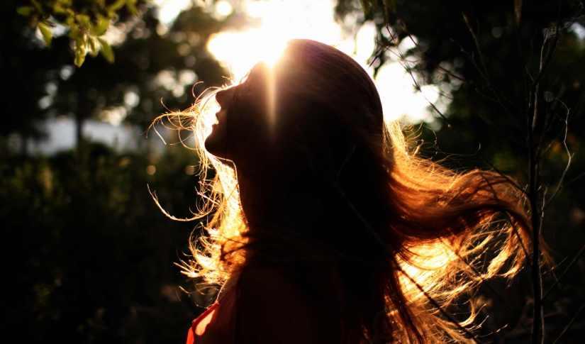 Woman in light